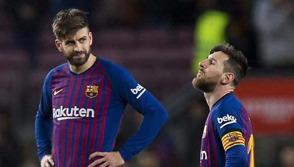 Gerard Piqué aseguró que espera que Lionel Messi renueve con el FC Barcelona. (Foto: AFP)