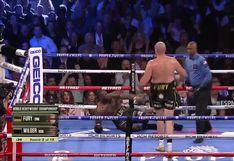 ¡Besó la lona! Deontay Wilder cayó tras combinación de Tyson Fury en Las Vegas [VIDEO]