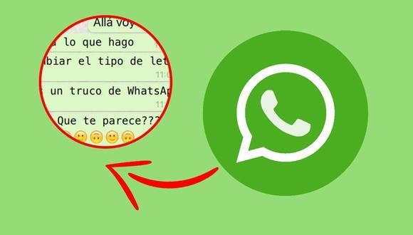 De esta manera lucirán tus próximos textos de WhatsApp tras cambiar la tipografía. (Foto: WhatsApp)