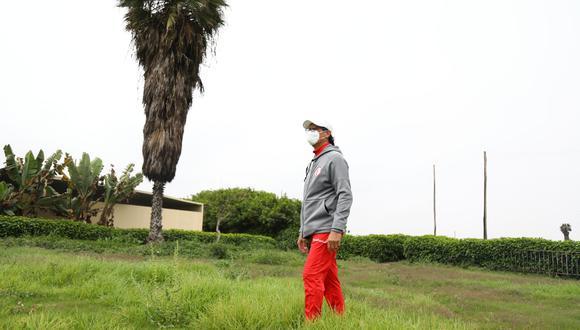 Ángel Comizzo inspeccionó las instalaciones de Campo Mar. (Foto: Universitario)