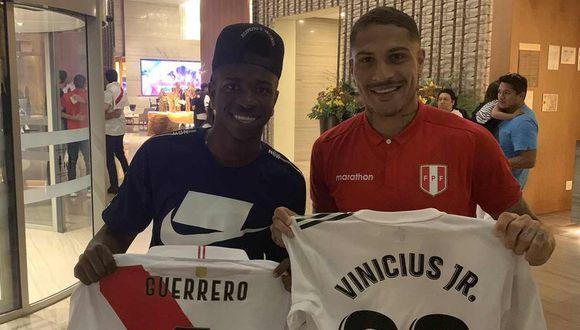 Vinicius Junior dedicó mensaje a Paolo Guerrero en redes sociales. (Foto: @viniciusjr)