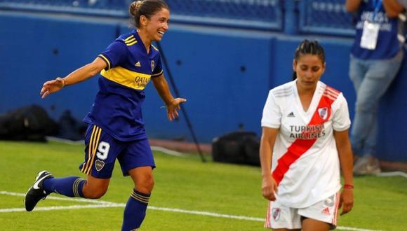 Boca goleó a River y se quedó con el campeonato femenino de Argentina. (Foto: EFE)