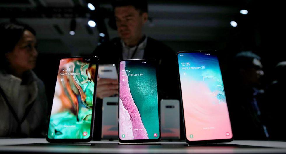 Presentación de los S10e, S10 y S10+ de Samsung (Foto: AFP)