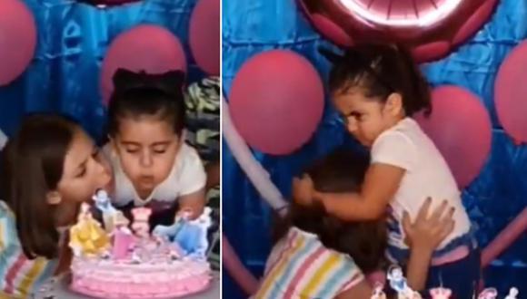 La niña no soportó que su hermana le apagara la vela de su cumpleaños, por lo que le jaló el cabello. (Foto: @porkestendencia / Twitter)