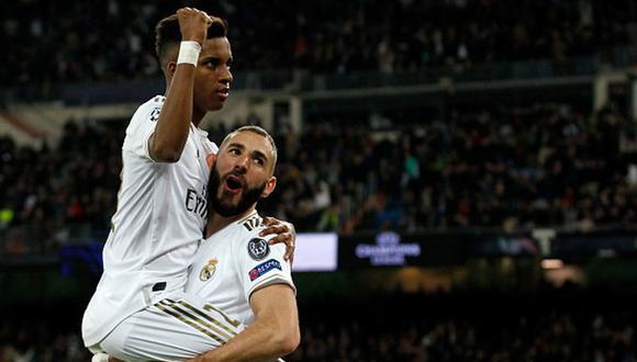 Rodrygo y Benzema han marcado 13 goles esta temporada con Real Madrid. (Getty)