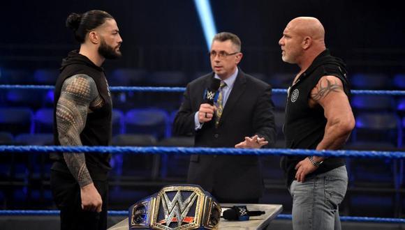 El posible sustituto de Roman Reigns para pelear contra Goldberg en WrestleMania 36. (WWE)