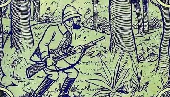 Hay un elefante escondido en esta ilustración. Tu misión, si decides aceptarla, es hallar al animal. (Foto: Milenio)