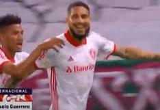 ¡Sigue en racha! Paolo Guerrero anotó para el 1-0 sobre  Fluminense por el Brasileirao 2020 [VIDEO]