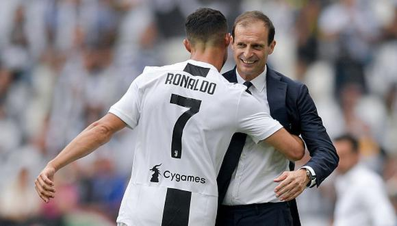 El sentido mensaje de despedida de Cristiano Ronaldo al DT de la Juventus. (Getty)