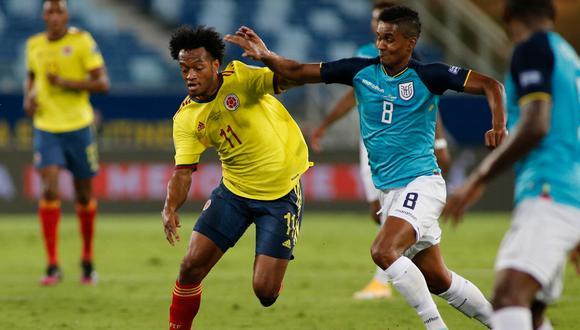 Ecuador perdió 1-0 ante Colombia por la fecha 1 de la Copa América. (AFP)