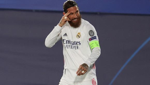El guiño de Sergio Ramos a Real Madrid. (Foto: AFP)