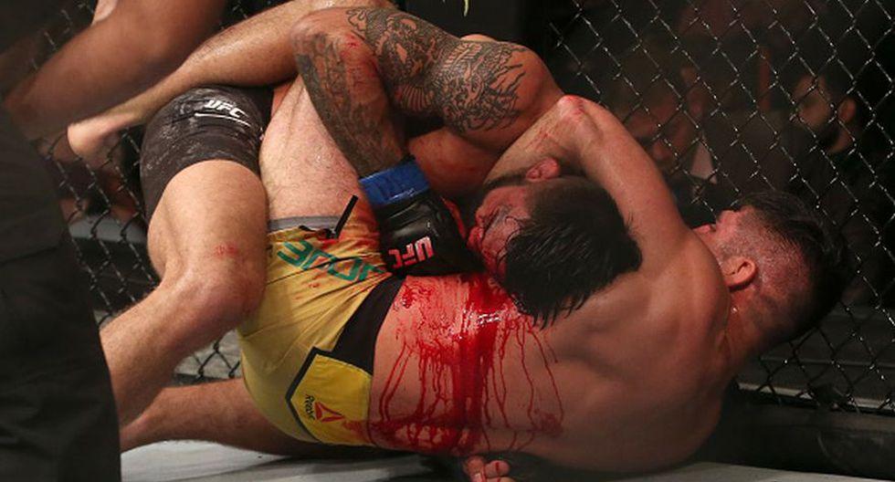Así quedó la nariz de Mike Perry luego de brutal pelea contra Vicente Luque. (Getty Images)