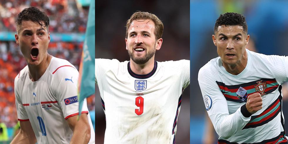 Los máximos goleadores de la Eurocopa 2021. (Foto: Agencias)