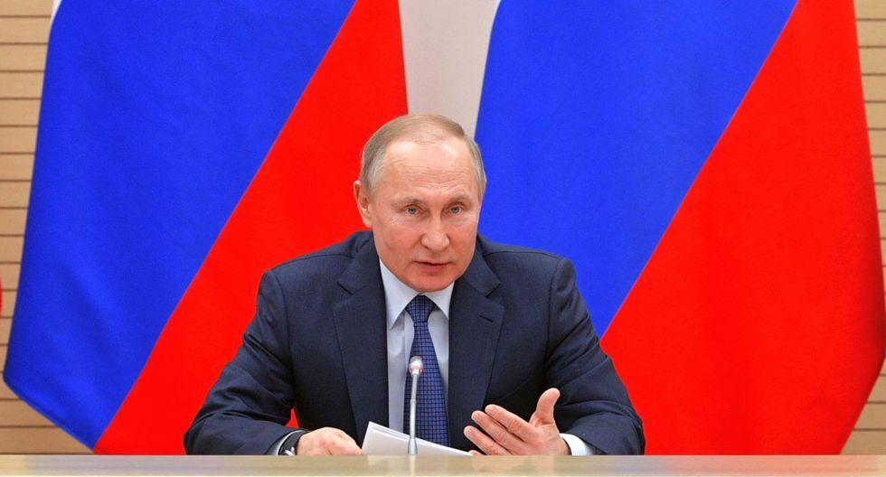 Vladimir Putin anunció la paralización de labores hasta el 30 de abril sin afectar los salarios. (AFP).