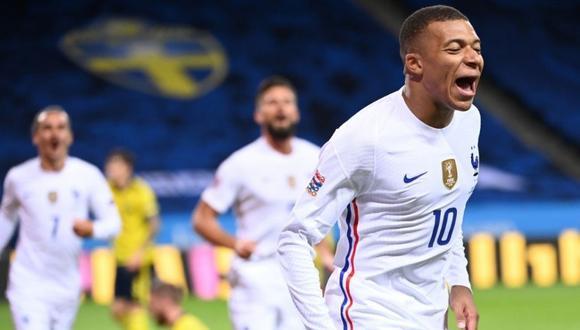 Kylian Mbappé se recupera para jugar con la selección de Francia. (Foto: AFP)