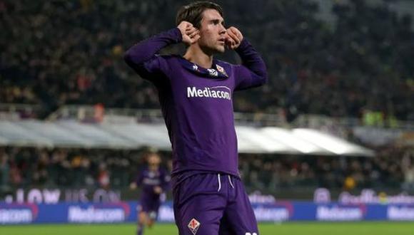 Dusan Vlahovic convirtió 21 goles en la temporada pasada con la Fiorentina. (Foto: Getty)