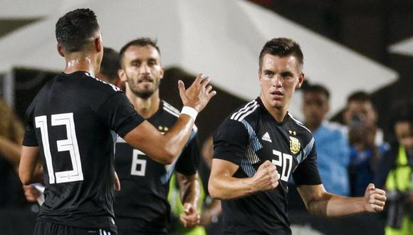 Argentina venció a Guatemala en partido amistoso internacional. (AFP)