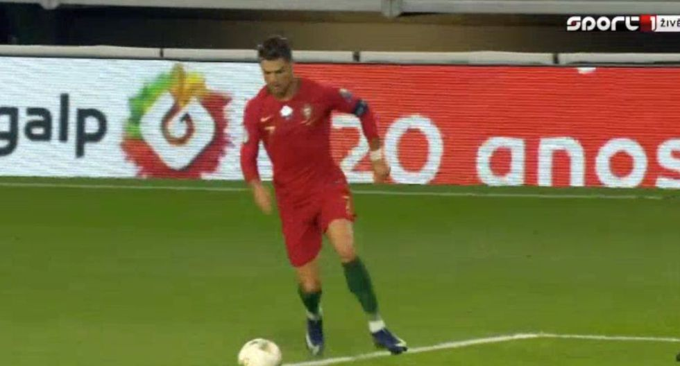 Golazo de Cristiano Ronaldo para el 2-0 del Portugal-Luxemburgo por Eliminatorias a la Euro. (Twitter)
