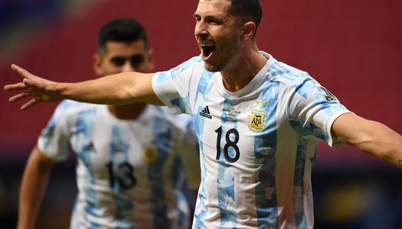 Argentina venció a Uruguay por la jornada 2 del Grupo A de la Copa América 2021 en el estadio Mané Garrincha. (Foto: EFE)