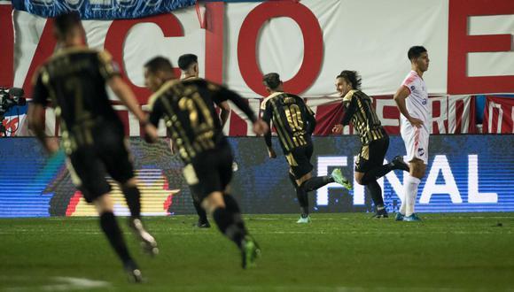 Agustin Canobbio anotó el gol del triunfo para Peñarol en el Gran Parque Central. (Foto: Peñarol)