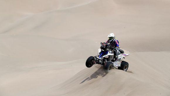 Emilio Choy fue uno de los dos peruanos que compitió en la categoría cuatrimotos en el Rally Dakar 2019. (EFE)