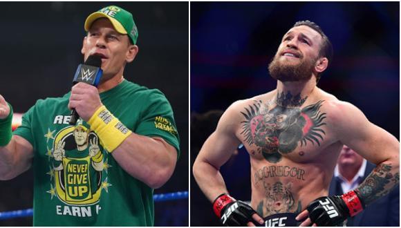 """""""Sería fantástico, él es lo que hacemos"""": John Cena espera ver a Conor McGregor en WWE. (WWE/UFC)"""