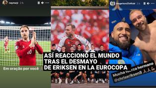 Eurocopa 2020:Así reaccionó el mundo del fútbol ante el desmayo de Eriksen