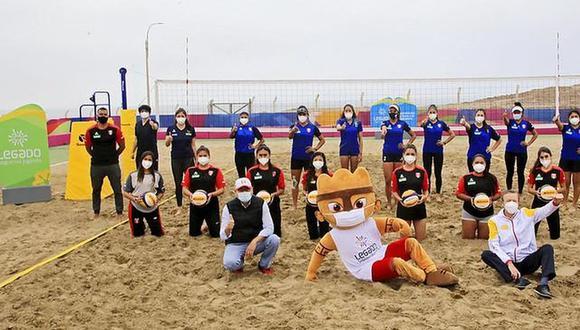 El vóley playa volvió a las actividades. (Foto: Difusión)