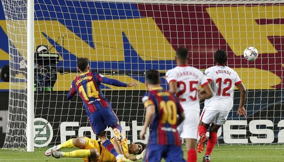 Barcelona llegó a los siete puntos en LaLiga tras empate ante Sevilla. (Reuters)