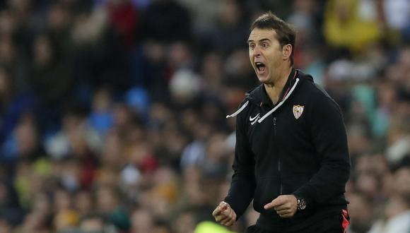 El técnico del Sevilla Julen Lopetegui señaló que dejaron escapar dos puntos ante Real Madrid. (AP)