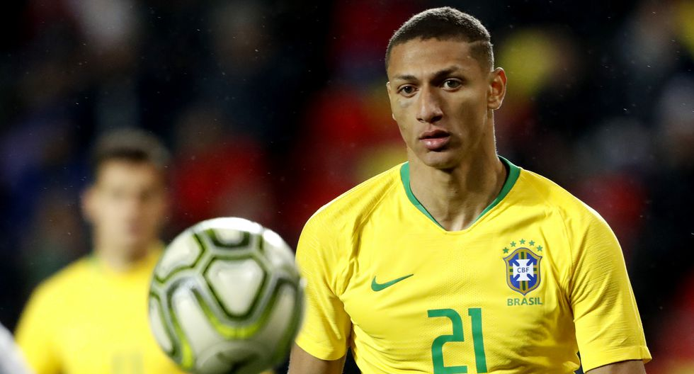 Richarlison debutó con Brasil frente a Estados Unidos. (Getty Images)