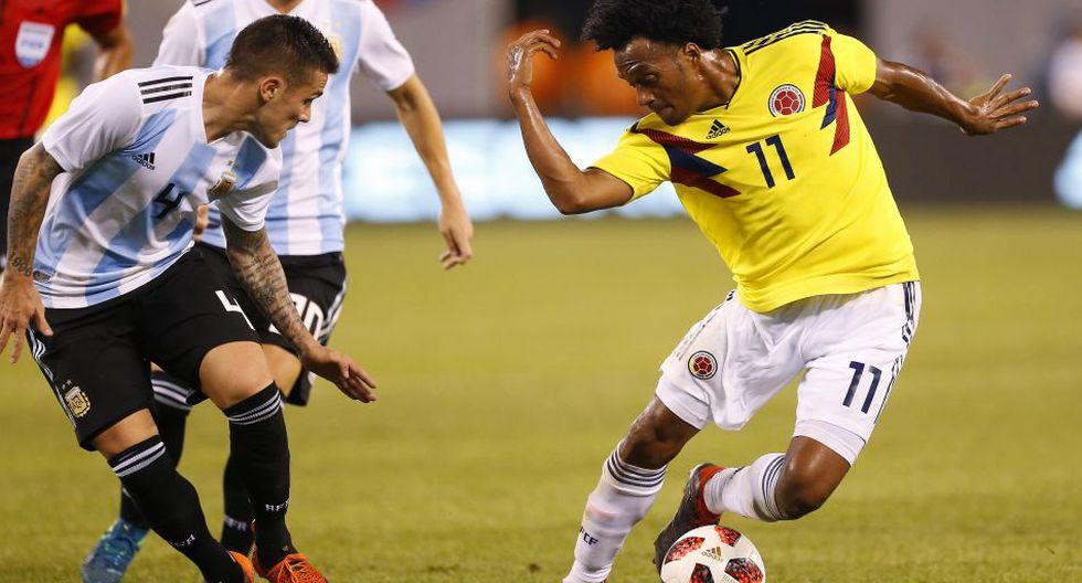 Argentina vs. Colombia juegan por amistoso internacional por Fecha FIFA. (Reuters)