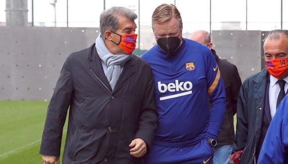 Laporta visitó entrenamientos de Barcelona. (Foto: FCB)