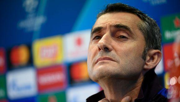 Ernesto Valverde llegó al Barcelona en 2017 en reemplazo de Luis Enrique. (Foto: AFP)