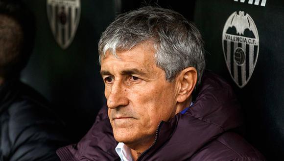 Quique Setién es técnico de Barcelona tras la salida de Ernesto Valverde. (Getty)