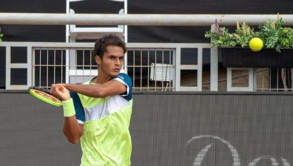 Juan Pablo Varillas cayó en primera ronda de la 'qualy' de Wimbledon 2021. (Foto: Itaú ATP Challenger de Santiago)