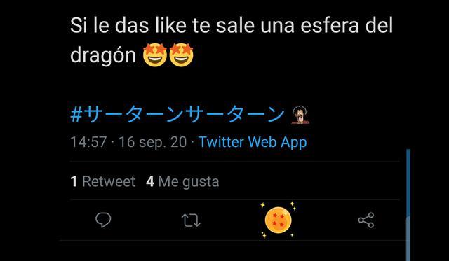 """De esta forma podrás obtener la esfera del dragón de Dragon Ball Z como """"me gusta"""" de Twitter. (Foto: Captura)"""