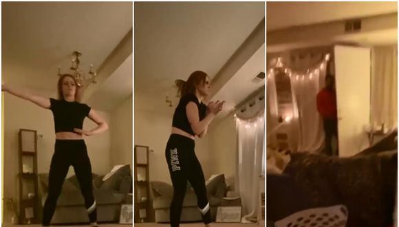 La joven grababa un video en su casa cuando, de repente, un sujeto apareció en el lugar. (Foto: Hannah Viverette / Facebook)