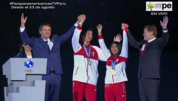 Dos medallas de oro simbólicas para incentivar el deporte. (Fuente: TV Perú, Movistar y Latina)