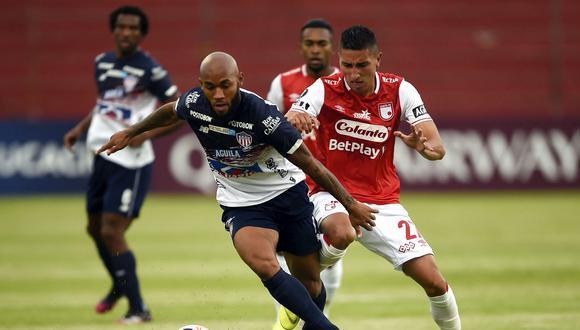Junior no pudo con Santa Fe y quedó fuera de la Libertadores. (Foto: Conmebol)