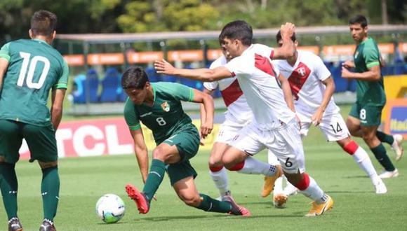 Selección Peruana Sub 20 goleó a Bolivia en amistoso. (Foto Agencias):