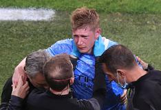 Deberá jugar con máscara: el diagnóstico de De Bruyne tras brutal choque con Rudiger