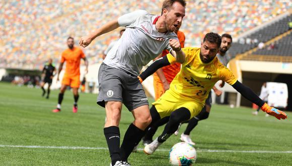 Hernán Novick anotó su primer gol con Universitario de Deportes. (Foto: Universitario)