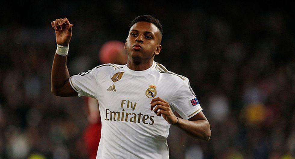 Rodrygo tiene 18 años y llegó al Real Madrid procedente del Santos por 25 millones de euros. (Getty Images)