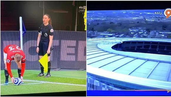 Interrumpieron transmisión de partido para evitar mostrar las piernas de árbitra. (Captura/EdClowes)