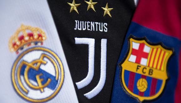 Real Madrid, Barcelona y Juventus son los fundadores de la Superliga. (Getty)