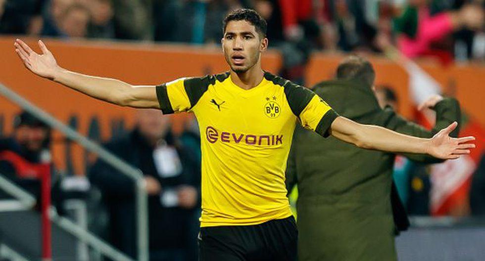 Achraf llegó al Dortmund a inicios de temporada a préstamo por dos años. (Getty)