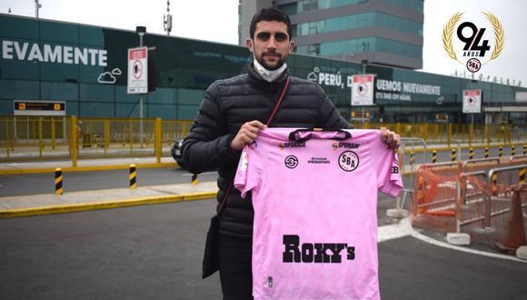 Lucas Campana llegó al país para incorporarse a Sport Boys. (Foto: @sportboys)