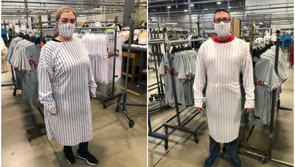 La ropa de protección que está confeccionando Fanatics. (Foto: Fanatics)
