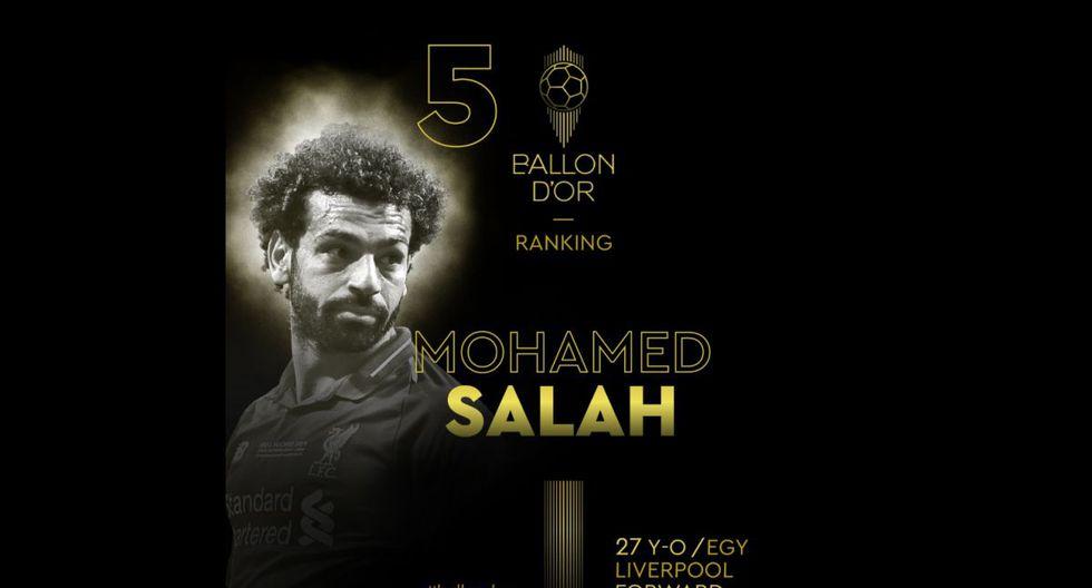 Mohamed Salah   Liverpool. (Foto: @francefootball)
